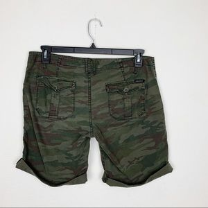 Sanctuary Shorts - Sanctuary Camo Print Bermuda Jean Shorts Size 30